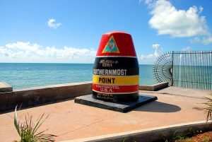 Southernmost point in the US via https://pixabay.com/en/southern-most-point-key-west-florida-1646715/