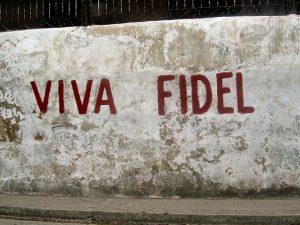 Viva Fidel Graffiti via https://pixabay.com/en/fidel-castro-cuba-mural-leader-1872545/